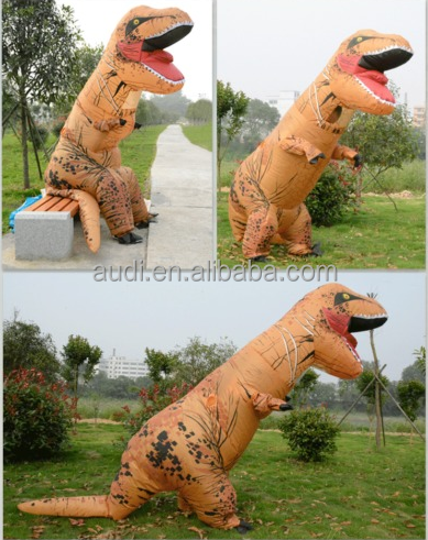 NEW ! Adult T-Rex Park World Dinosaur Inflatable Costume TRex Jurrassic Fancy Suit