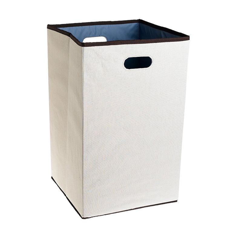 Household rectangle eco friendly livingroom white foldable laundry hamper