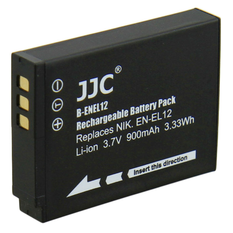 JJC Camera Li-ion Battery Pack replaces Nikon EN-EL12 for NIKON COOLPIX P330, AW110, S31, S9500, S800C, S9300, S6300, P310