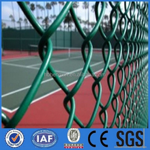 Hot Sale!!!PVC Coated Cheap Farm Fence Chain Link Fencing/Diamond Shaped Playground Chain Link Fence(factory)