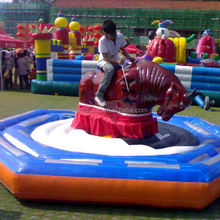 Good quality park funfair bull riding games with lowest price