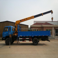 factory sale 6.3ton hydraulic crane dump truck with crane for sale