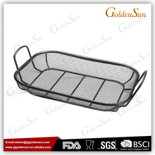 Non-Stick Coating Mesh BBQ Grill Roasting Pan