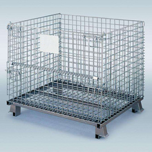 Steel metal portable wire mesh lockable cargo storage cages