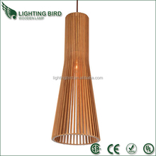 2015 hot sale ul ce saa wood pendant light led hanging lights color change