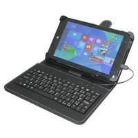 "7"" Tablet PC PU Leather case cover USB keyboard pink blue red black color choices"