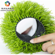 Factory soccer court price plastic grass durable and double colors futsal artificial turf