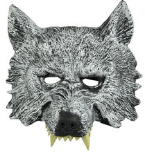 Good quality small moq rubber animal head face hallowen mask