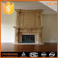 House Decorative Carving Marble Fireplace Stove