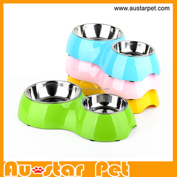 High Quality Double Dog Bowl S/L, Stainless Steel Pet Feeder