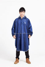 High Quality Polyester Waterproof PVC Adult Rain Poncho