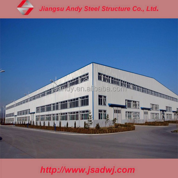 Steel frame structural insulated factory construction building design