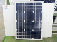 18V 50W Monocrystalline Silicon Epoxy Solar Panels Module kits Solar Cells For Charging Cellphone Battery