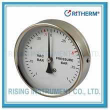 11031002 4 inch Back connection vacuum pressure gauge