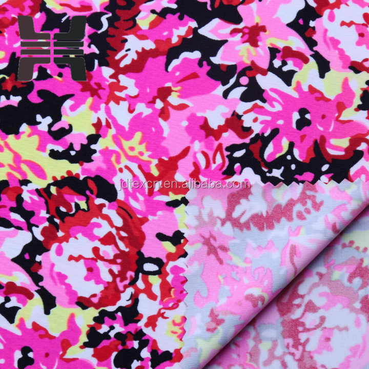 4 way stretch nylon spandex digital printing fabric