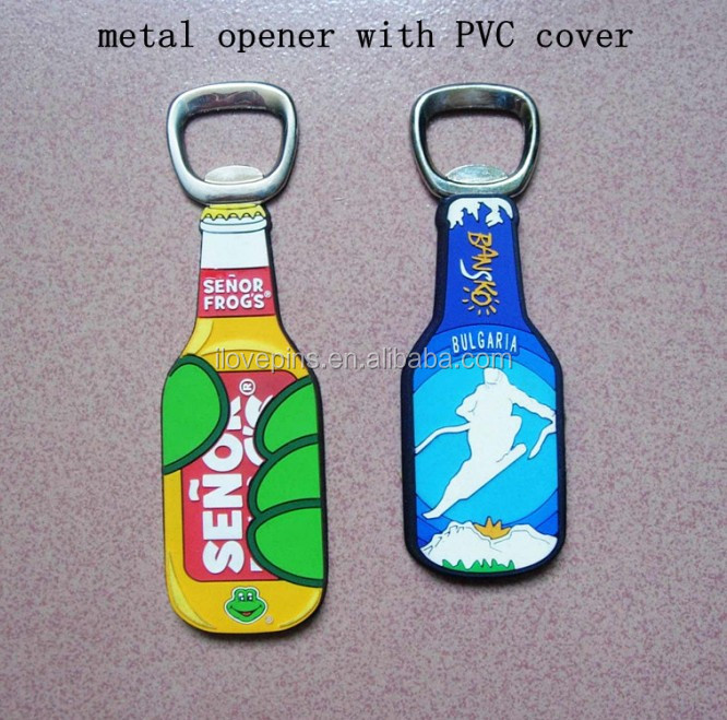 China wine botter opener metal opener with pvc cover