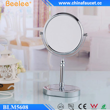 Beelee Double Sided Brass Smart Desktop Cosmetic Mirror