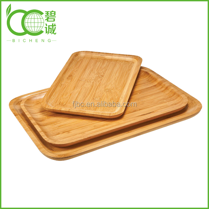 Wholesale High Quality Bamboo Serving Plate/Dish/Tray