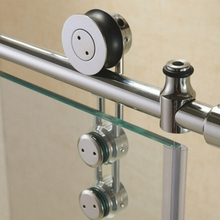 CE ISO approved Safety stainless steel sliding door tempered glass shower door accessories