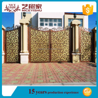 Automatic iron electrical sliding retractable main gate designs