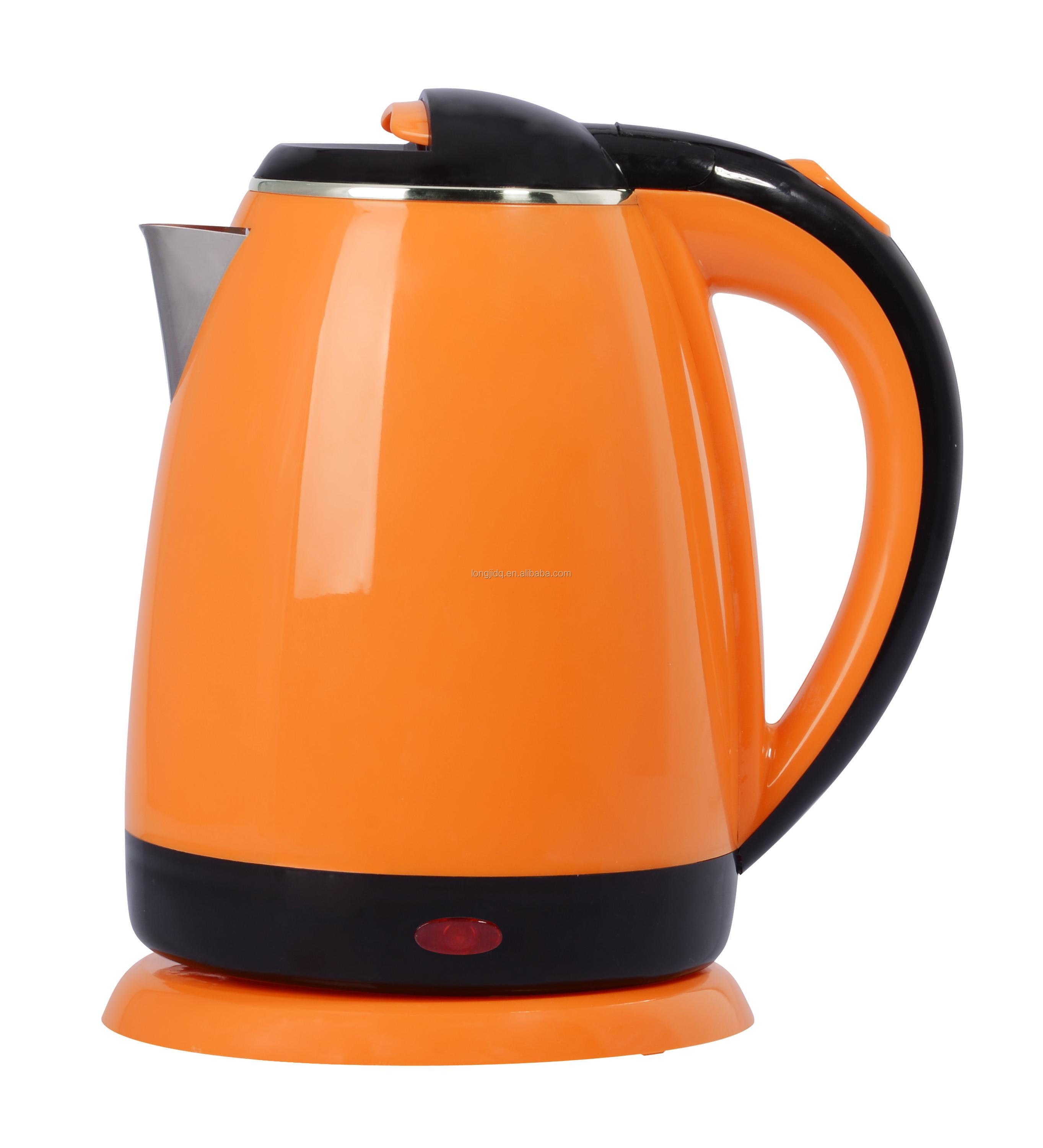 2017 sales promotion plastic + Stainless steel inner pot two layers electrice kettle 1.5L 1.6L
