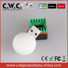 External Storage Golf ball pvc usb flash drive sticks hot sale pendrive 2G 4G 8G usb key 16G 32gb USB disk