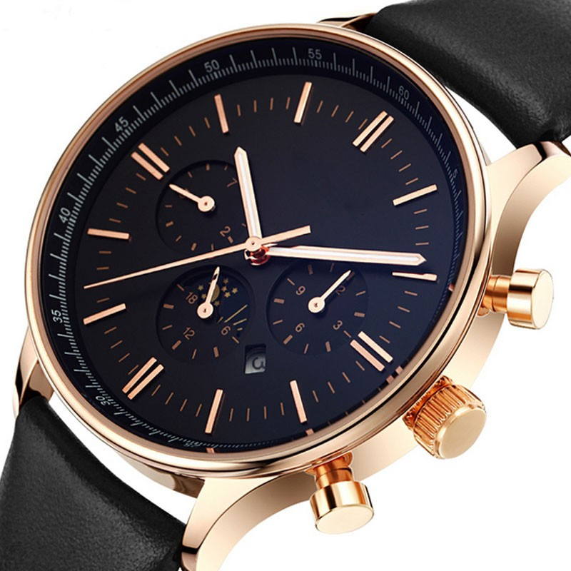 China Watch Factory , Leather Strap Men Sport Watches wholesale