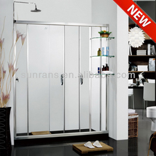 6MM tempered glass chinese bamboo shower enclosure