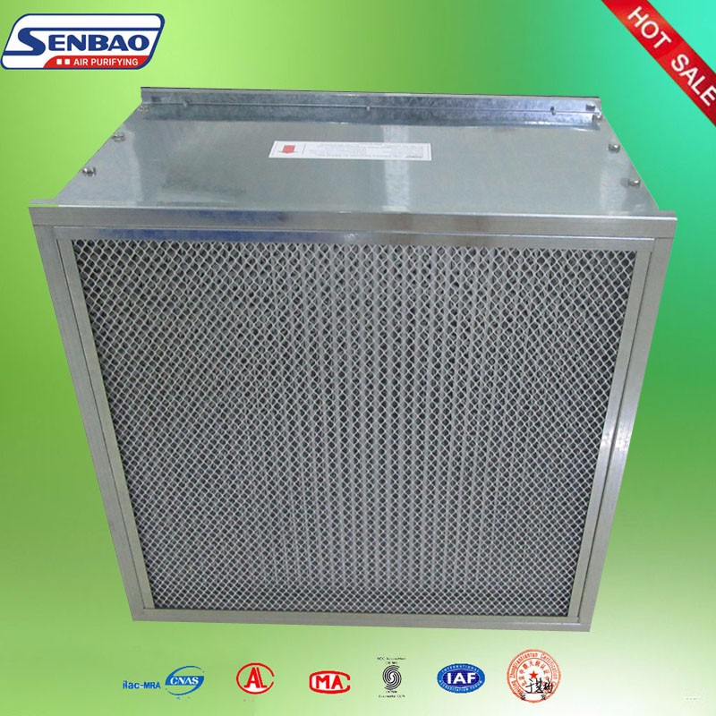 Deep Pleated Panel Ceiling Hepa Filters for Clean Room
