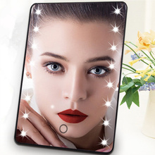 Professional Desktop Touch Sensing Dimmable Lighted 16 LED Makeup Mirror