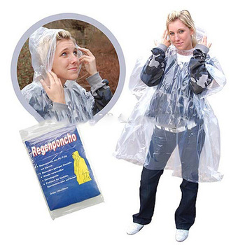 PE Rain Poncho Disposable Emergency Poncho Bulk