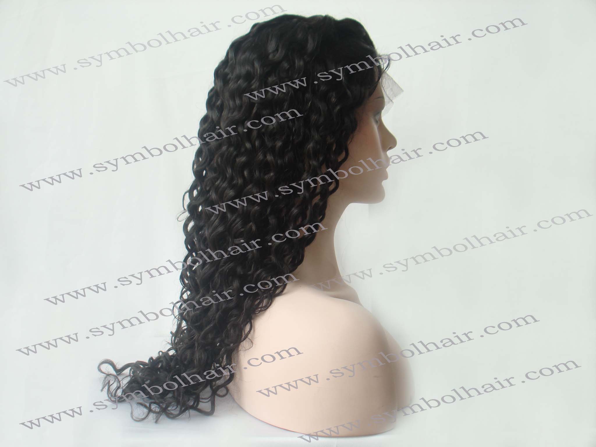 18inch 1b# water wave lace front wig