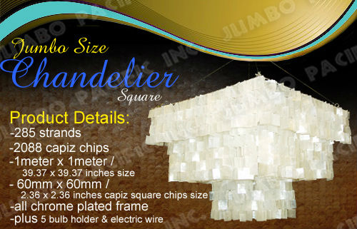 Big jumbo Capiz Shell Chandellier Product