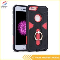Free sample double color in one shockproof for iphone 6 case stand