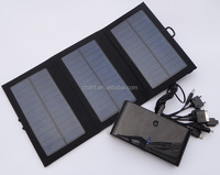 Outdoor portable folding 6 w solar charger solar panel mobile power charger