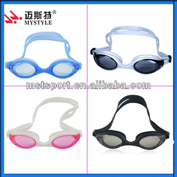 2015 New Fashionable silicone swimming goggles with smaller lens