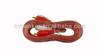 clear reddish red and white rca car dvd cable