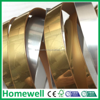 2*19mm customized decorative metal edge banding for furniture