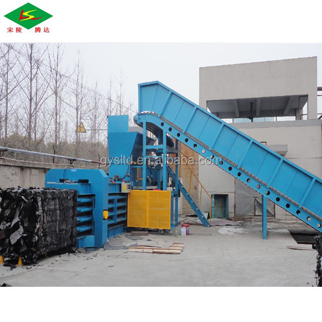 Horizontal Hydraulic Baler Machine For Baling Waste Cotton paper bags