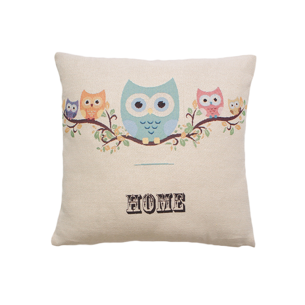 Embroidered Polyester Cotton Seat Cushion For Home Decoration