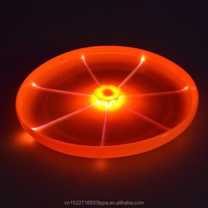Best durable dog toys Flashlight LED Light Up Flying Disc for education