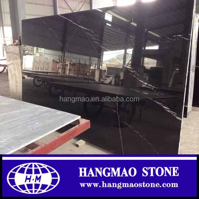 China Spain nero marquina marble,black marble