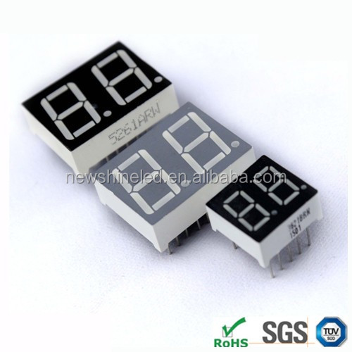 Orange small 7 segment led display 0.80 inch led digital display 2 two digits led 7 segment display common cathode for advertise
