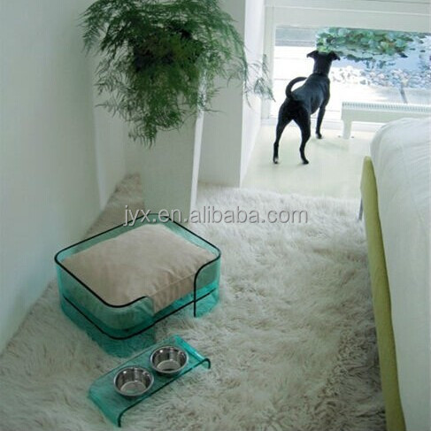 Lucky simple design acrylic pet bed for dogs and cats wholesale