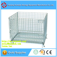 Warehouse Storage Collapsible Wire Mesh Cage