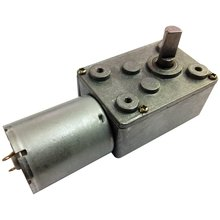 Reversible 12V Electrical DC Worm Gear Motor 20 RPM High Speed with Metal Geared Box Reducer Output Shaft 6mm