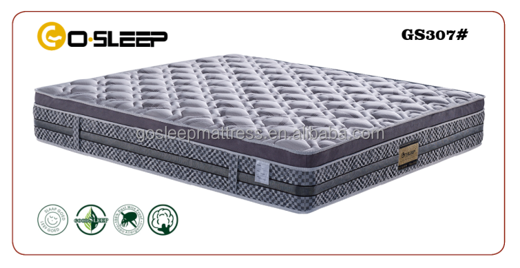 luxury europe top memory foam mattress GS307#