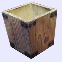Natural Wood Storage Bin/Tool Box/Garden Planter
