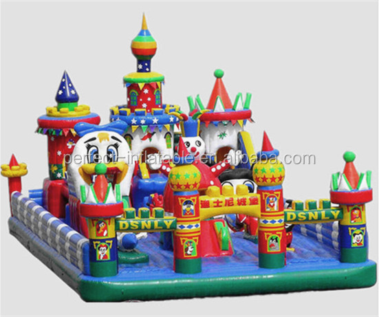 Kids playground inflatable jumping castle with blower