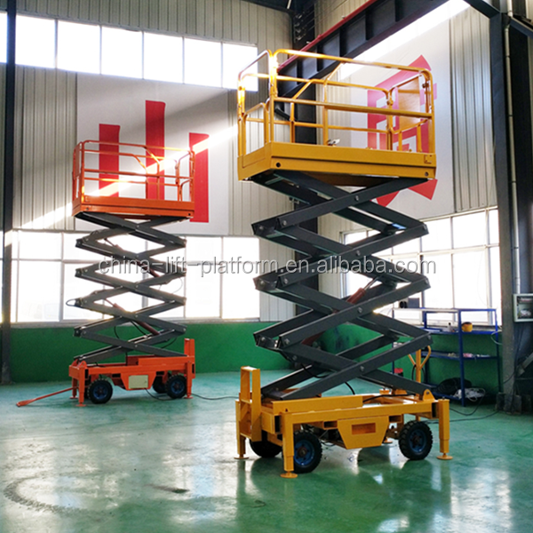Widely Use Mobile Hydraulic Lift For Car Wash Rope Suspended Platform With